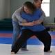 Self-defense class practice
