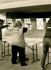 Joanne Factor at Shooting Range